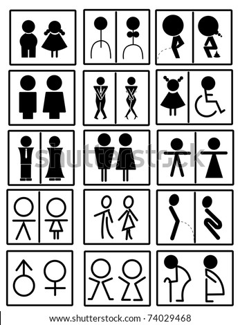 Bathroom Signs Vector symbols bathroom stock vector 73776337 - shutterstock