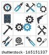 Tools icons - stock