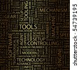 TOOLS. Word collage. Vector illustration. - stock photo