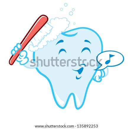 tooth brushing cartoon