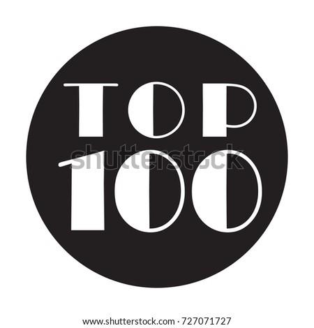 top 100 black white round icon stock vector 611852240