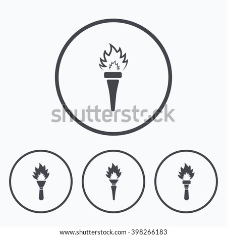 Torch flame icons. Fire flaming symbols. Hand tool which provides light or heat.  sc 1 st  Shutterstock & Torch Flame Icons Fire Flaming Symbols Stock Vector 380894560 ... azcodes.com