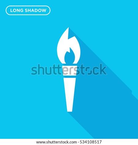 Cartoon Medieval Torch Flame Light Stock Vector 643691167 Shutterstock