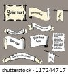 Torn paper labels. Gothic style - stock vector