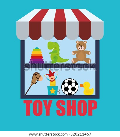 Toy shop concept and childhood icons design, vector illustration 10 eps graphic.