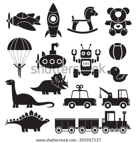 toys icon illustration vector silhouette