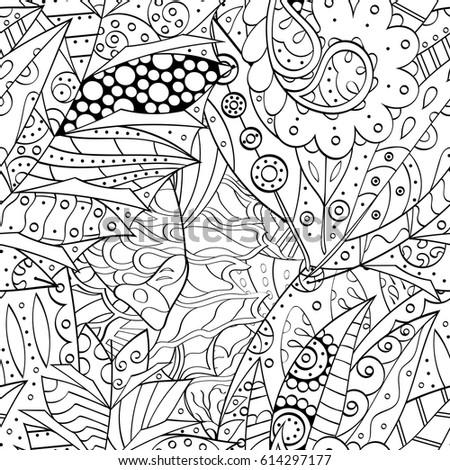 Doodles Design Piano Coloring Book Adult Stock Vector 420915637