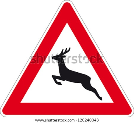 traffic signs deer crossing