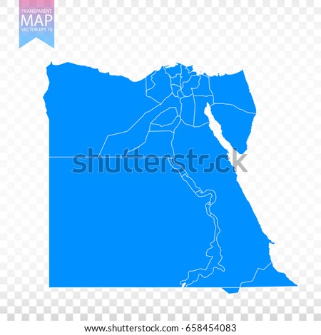 Transparent High Detailed Black Map Egypt Stock Vector - Map of egypt vector free