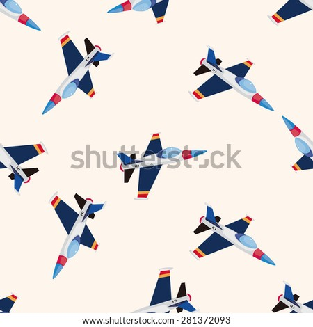 transportation airplane , cartoon seamless pattern background