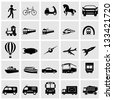 Transportation Icons set Eegant series. - stock vector