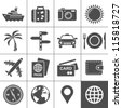 Travel and tourism icon set. Simplus series. Each icon is a single object (compound path) - stock