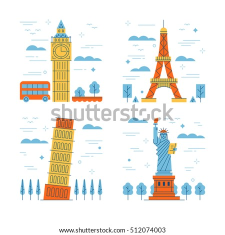 Travel flat style illustration