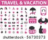 travel & vacation signs. vector - stock vector