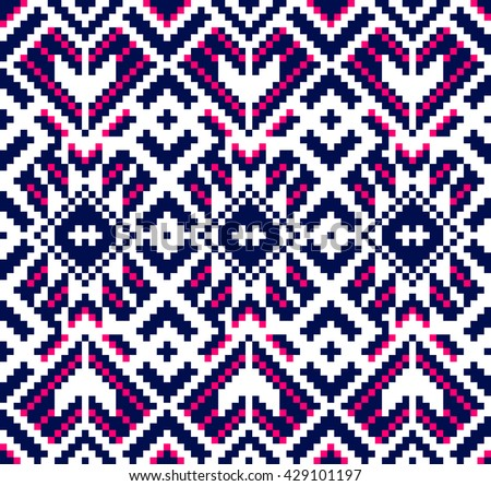 Carpet Motive Texture Vector Stock Vector 64894324