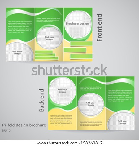 a4 tri fold brochure template - set flyer poster design a4 size stock vector 289386914