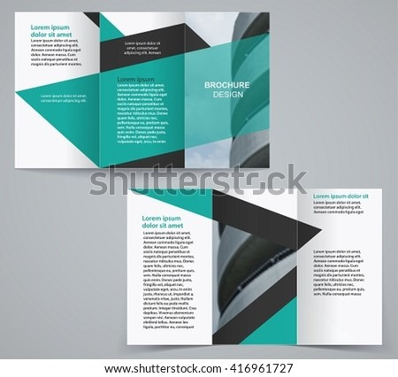 double sided tri fold brochure template - artram 39 s tri fold brochure set on shutterstock