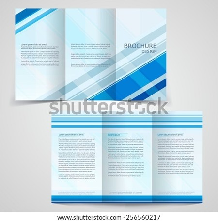 Abstract vector modern flyer brochure design lager vektor for Two sided brochure template