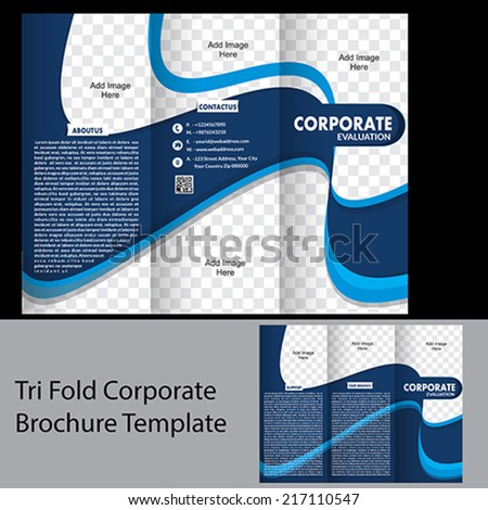 Tri Fold Corporate Brochure Template Vector Stock Vector 291416888