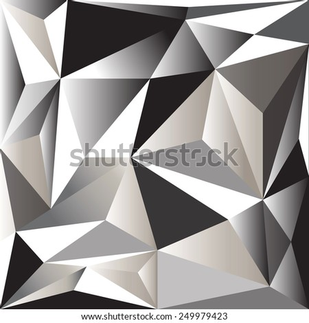 Triangle abstract 3D background