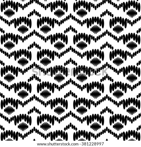 Seamless Black White Tribal Pattern Wallpaper Stock Vector