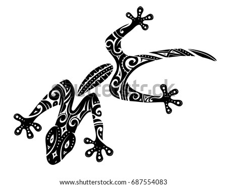 maori ethnic tattoo stock vector 312709235 shutterstock. Black Bedroom Furniture Sets. Home Design Ideas