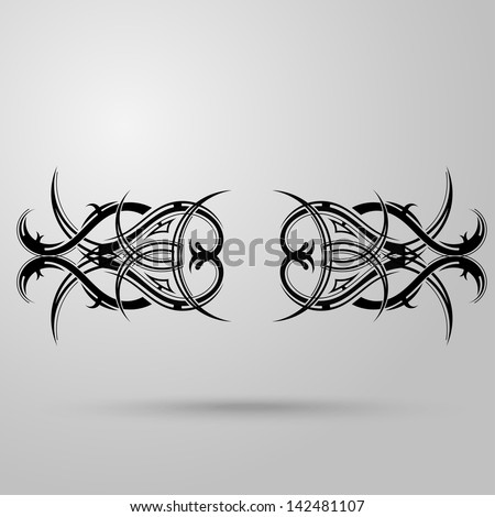 graphic design tribal tattoo wings stock vector 127507781 shutterstock. Black Bedroom Furniture Sets. Home Design Ideas
