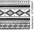 Tribal vector seamless pattern. Hand drawn abstract background. Isolated on white background. - stock vector