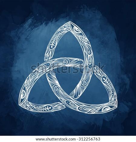 triquetra celtic body mind spirit symbol stock vector 312136067 shutterstock. Black Bedroom Furniture Sets. Home Design Ideas