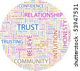 TRUST. Word collage on white background. Vector illustration. - stock photo