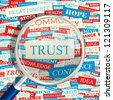 TRUST. Word collage. Vector seamless illustration. - stock vector