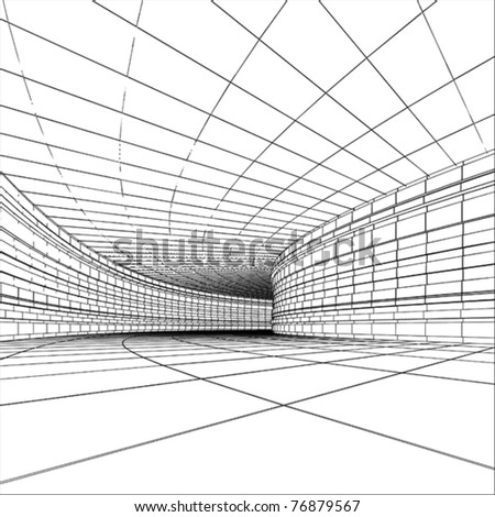 Tunnel - abstract architectural vector construction