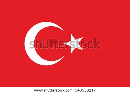 Turkey Flag. Vector Format