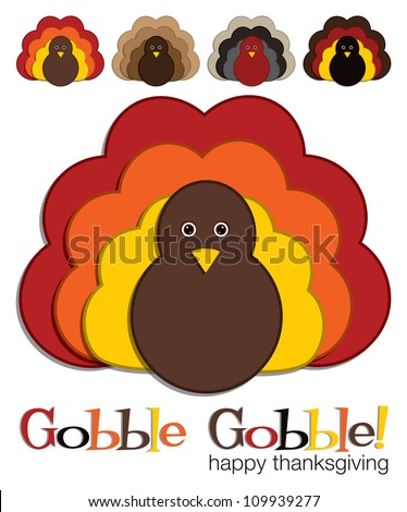 Turkey stickers in vector format.