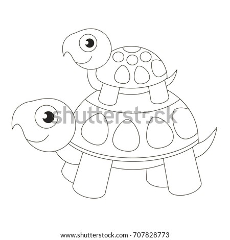 Coloring Page Outline Funny Bird Winter Stock Vector