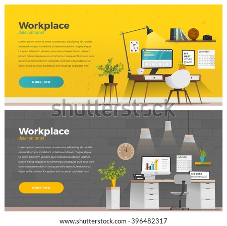 Two Banner For Web Design. Office Theme Part 78