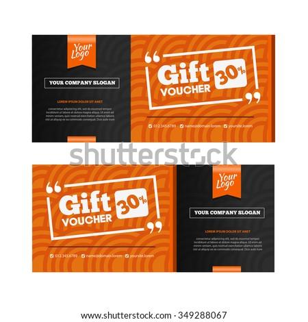 Set wooden gift cards stock vector 462834625 shutterstock for Hotel voucher design