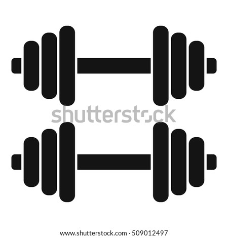 Dumbbell Icon Stock Vector 393139639 - Shutterstock
