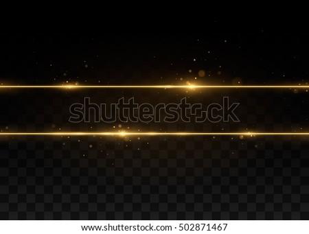 gold glittering star dust trail sparkling stock vector