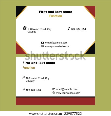 Modern double sided business card template stock vector 239426527 two stylish single sided business cards template accmission Images