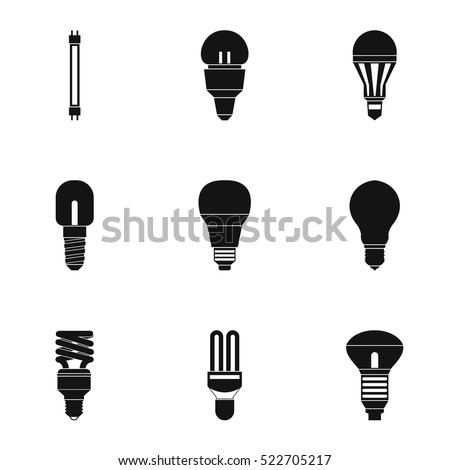 Light Bulb Icons Thin Line Art 332229482
