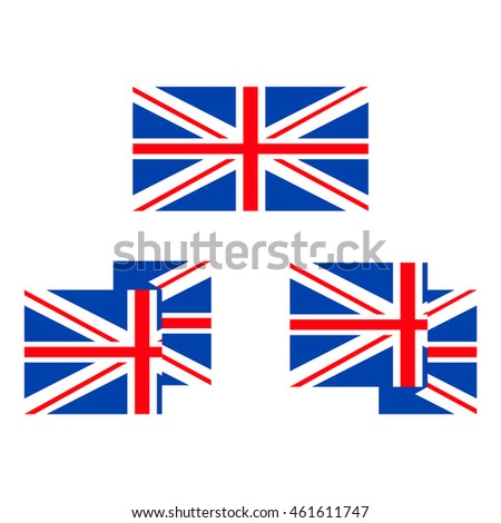 UK flag icon color. vector illustration