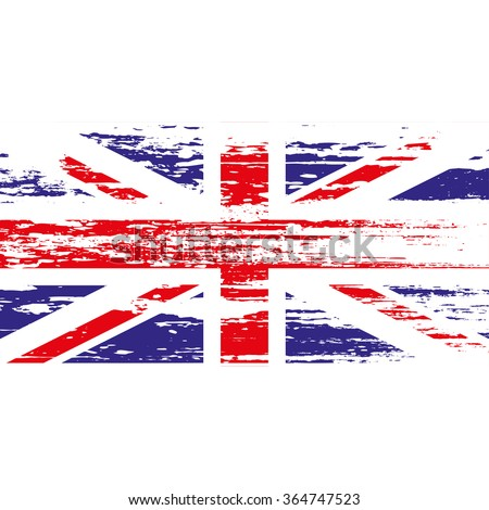 UK  flag with grunge on a white background. Vector illustration