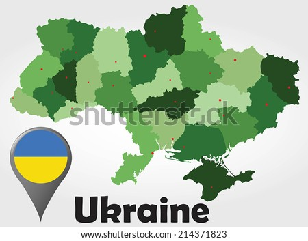 Administrative Divisions Ukraine Flag Coat Arms Stock Illustration