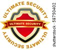 Ultimate security. Vector illustration. - stock vector