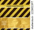 under construction background. vector design - stock photo