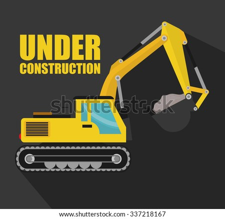 Under construction concept with tools icons design, vector illustration 10 eps graphic
