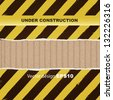 under construction stripes abstract cardboard background - stock vector
