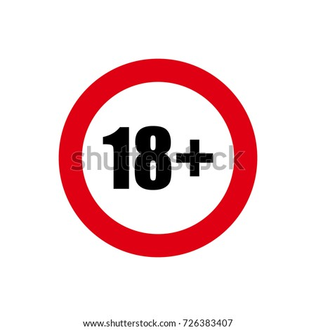 18 age restriction sign stock vector 648007651 shutterstock