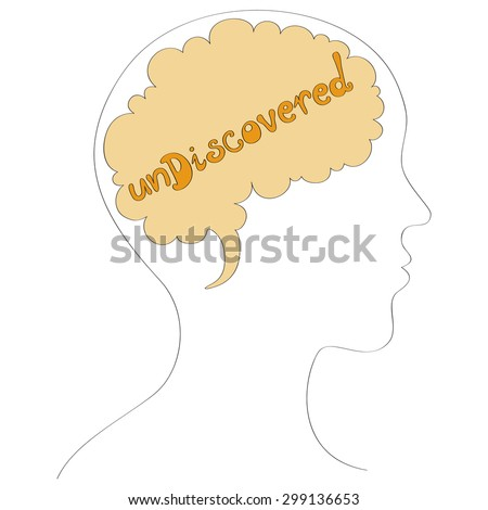 Undiscovered mind vector illustration